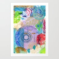 Patchwork Of Prints Art Print