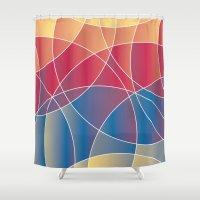 Sunset Curves Shower Curtain