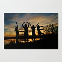 Love is beautiful Canvas Print