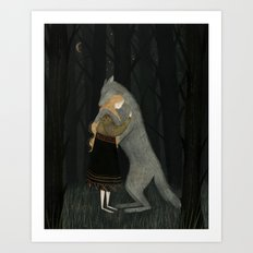 Lupine Friend Art Print