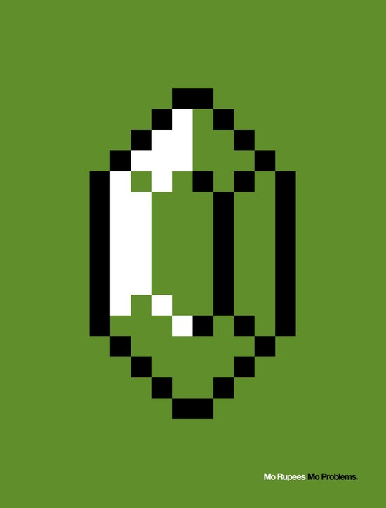 Mo Rupees Mo Problems (Green) Art Print