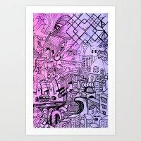 Funky Town Pt. 2 Art Print