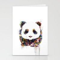 panda Stationery Cards featuring panda by ururuty