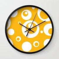 Circles Dots Bubbles :: Mango Wall Clock