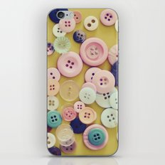 Vintage Buttons  iPhone & iPod Skin