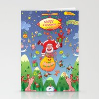 Santa Has A Zeppelin To … Stationery Cards