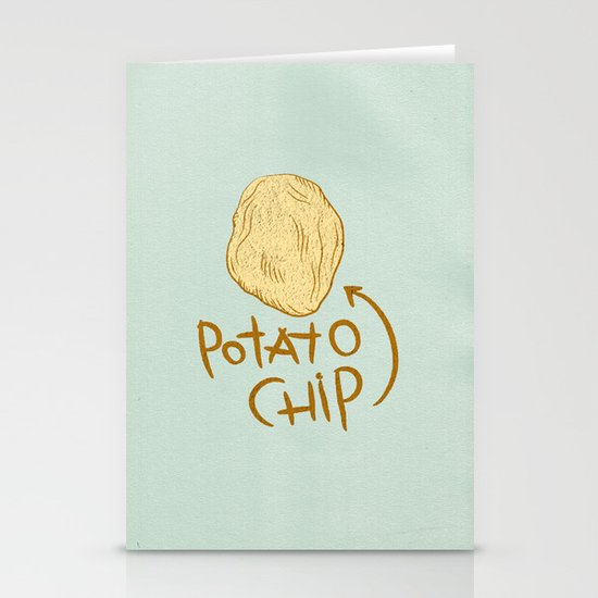 POTATO CHIP Stationery Card
