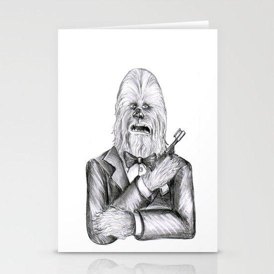Wookie 007 Stationery Card