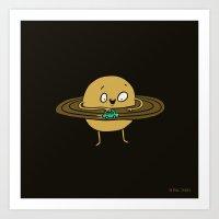 Planet At Play Art Print