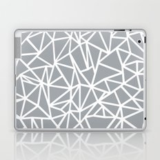 Abstract Outline Thick White on Grey Laptop & iPad Skin