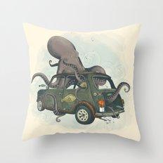 Beastie of the Deep Throw Pillow