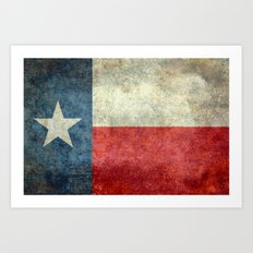 Texas Flag - Retro 1 Art Print