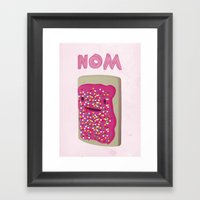 Nom Framed Art Print