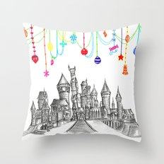 Party at Hogwarts Castle! Throw Pillow