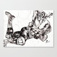 Judge Dredd loves you Canvas Print