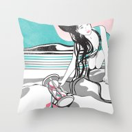 Throw Pillow featuring Sands Of Time by Stevyn Llewellyn