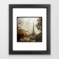 The Carousel And The Eif… Framed Art Print