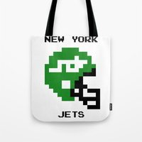 Old School New York Jets Tote Bag