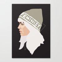 Feminist (Silver) Canvas Print