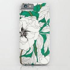 green peonies iPhone 6 Slim Case
