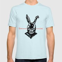 Donnie Darko: FEAR • FRANK • LOVE Mens Fitted Tee Light Blue SMALL