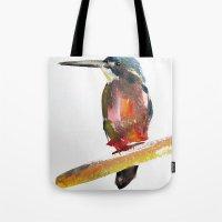 Azure Kingfisher Tote Bag