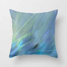 Lost In Blue Throw Pillow