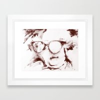 The Visionary Sepia Framed Art Print