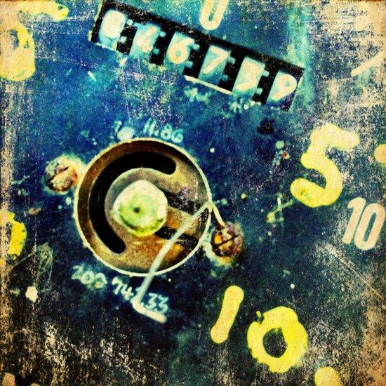 Ruined dial detail Canvas Print