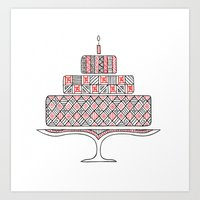 Patterned Cake Art Print