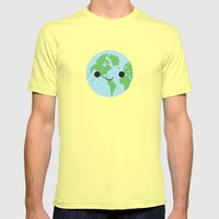 Happy Earth Mens Fitted Tee Lemon SMALL