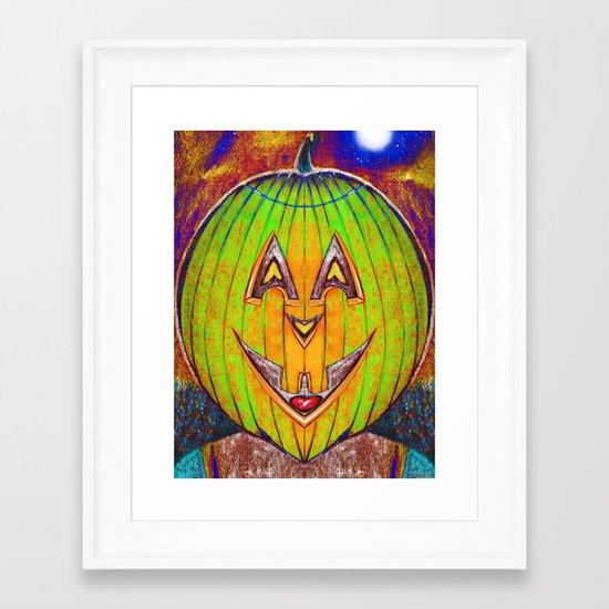 PUMPKIN GRUMPKIN Framed Art Print