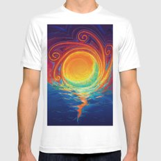 Sun Moon & Stars SMALL White Mens Fitted Tee