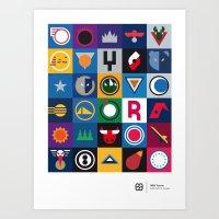 NBA Teams  Art Print