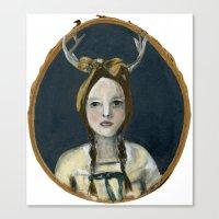 Woodland Girl Canvas Print