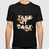 Take It Easy Mens Fitted Tee Tri-Black SMALL