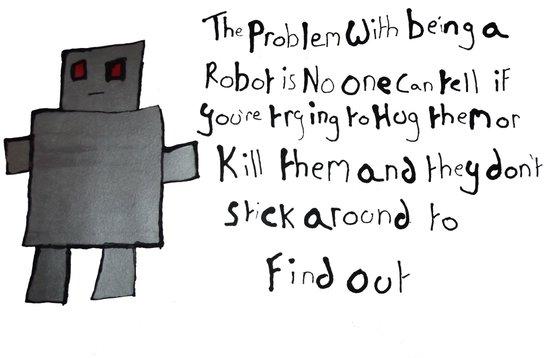 Robot Problems Art Print