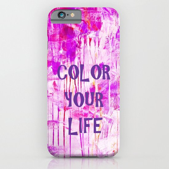 color your life - purple iPhone & iPod Case
