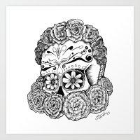 Katrina (white Version) Art Print