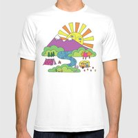 My Happy Place Mens Fitted Tee White SMALL