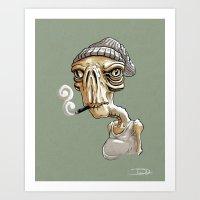 Smokin' Rob Art Print