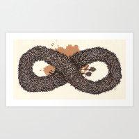 fur infinity Art Print