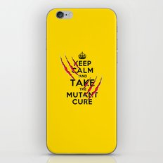 Keep Calm and Take The Mutant Cure (X-men) 2nd Version iPhone & iPod Skin