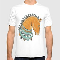 Horse Head - Chocolate Mens Fitted Tee White SMALL