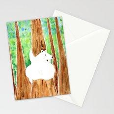 Polar Bear On Holiday Stationery Cards