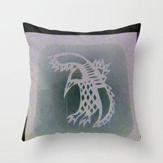 Bird Shadow Throw Pillow