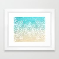 Beach Mandala Framed Art Print