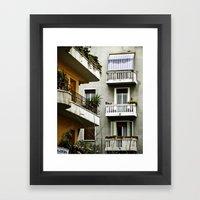 Piazza Bologna Framed Art Print