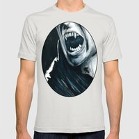 We Hide From The Sun Mens Fitted Tee Silver SMALL
