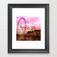 Framed Art Print featuring London,pink Effect by MehrFarbeimLeben